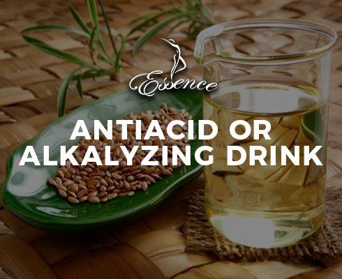 Antiacid or alkalyzing drink