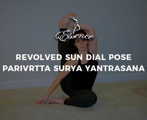 Revolved Sun Dial Pose Parivrtta Surya Yantrasana